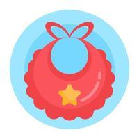 babero bufanda de bebé vector