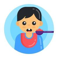 Baby Eating Time vector