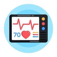 electro cardio gramo vector