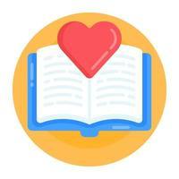 Favorite Love Book vector