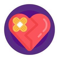 Heart Healing and Bandage vector