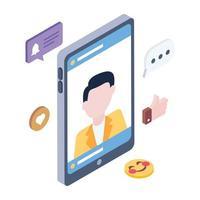 Social Media Account vector
