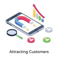 User Attracting Customers vector