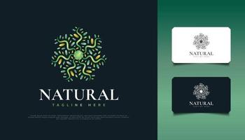 Colorful Flower and Leaves Ornament Logo, Suitable for Spa, Beauty, Resort, or Cosmetic Product Identity. Colorful Mandala Logo vector