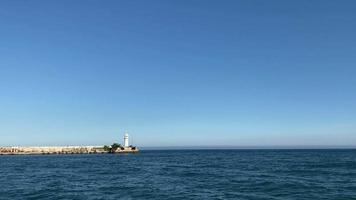 Seascape with A View of The White Lighthouse video