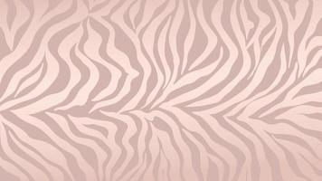 Rose gold zebra skin background vector. Luxury gold texture with foil effect.  Animal stripes pattern wall art vector illustration.