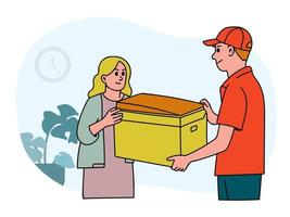 Home delivery vector design concept. Online order tracking and delivery service concept