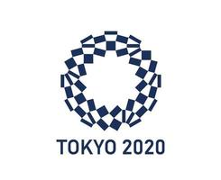 Official logo Tokyo 2020 japan Olympic games abstract vector illustration symbol sign icon