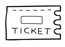 Cartoon Vector Illustration of Ticket