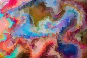 Triangular Polygon Pattern. Low Poly Background vector