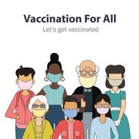 Vaccination for people of all ages vector
