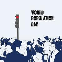 Poster of the world population day vector