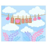 Love heart month or singles day background. Happy valentines day vector