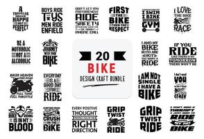 Craft design bundle with bike lettering quotes. vector