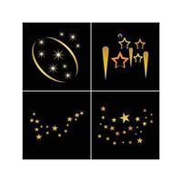 estrella brillante fondo dorado vector