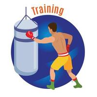 Box Training Circle Background Vector Illustration