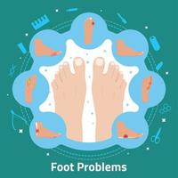 Foot Problems Flat Composition Vector Illustration