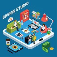 Graphic Design Studio Vector Illustration