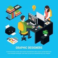 Graphic Design Isometric Concept Vector Illustration