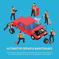 Ilustración de vector de concepto de reparación automotriz