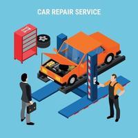 Ilustración de vector de concepto de servicio de coche