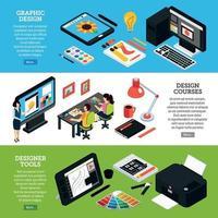 Graphic Design Banners Set Vector Illustration