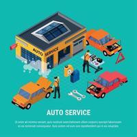 Auto Service Concept Vector Illustration