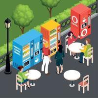 Vending Machines Isometric Illustration Vector Illustration