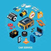 Car Service Concept Illusrtation Vector Illustration