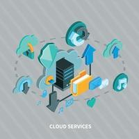 Cloud Services Concept Vector Illustration