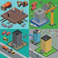 Building Development Design Concept Vector Illustration