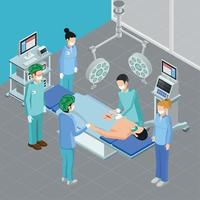 Isometric Surgery Room Composition Vector Illustration
