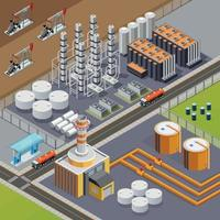 Oil Industry Isometric Composition Vector Illustration