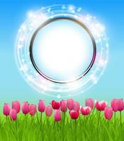 Spring Green Background. Vector Illustration