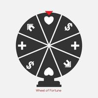 Wheel of Fortune, Lucky Icon with Money, Health, Home and Love S vector