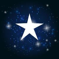 Night Star Sky Vector Illustration Background.
