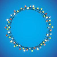 Circular Light Frame for Christmas and New Year vector