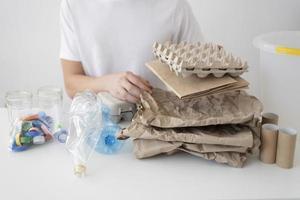 Sustainable lifestyle with zero waste photo