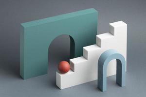Abstract 3d design elements arrangement photo