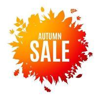 Shiny Autumn Leaves Sale Background Vector Illustration