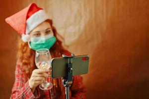 Christmas video call. photo