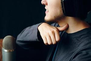 Streamer show gestures. photo