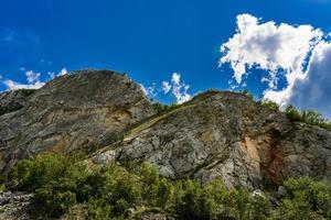 Danube gorge in Djerdap on the Serbian-Romanian border photo
