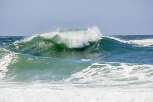 Wave at Rudder Beach in Copacabana in Rio de Janeiro photo