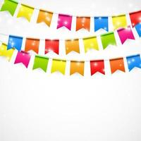 Party Background with Flags Vector Illustration