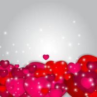 Ilustración de vector de tarjeta de felicitación del día de San Valentín