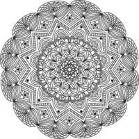 luxurious adults mandala design of decorative geometric line art with arabic style pattern vector