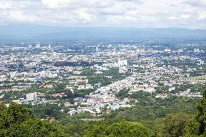 Beautiful cityscape top view and small town city photo