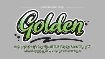 Green Modern Calligraphy Typography vector