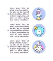 Benefits of selling on online marketplaces concept line icons with text. Page vector template with copy space. Brochure, magazine, newsletter design element. Business linear illustrations on white